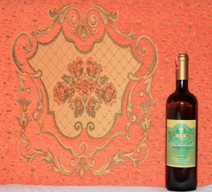Bottle of Albanian white wine made from Shesh-i-Bardhe grapes (I had this while stuck in Shkodër for the night).