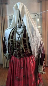 Montenegrin female folk costume from Boka Kotorska region (19th-century AD) - found in the Maritime Museum.