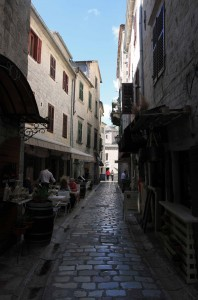 Yet another street in the old town of Kotor.