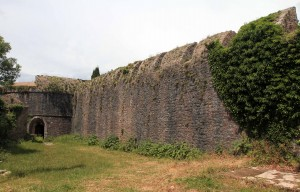 The wall of Spanjola Fortress, built in the 16th-century AD.