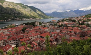 The old town of Kotor, seen from the trail that leads to the fortress on the Hill of St. john.