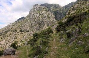 The old pedestrian trail that leads from Kotor to the interior of Montenegro.