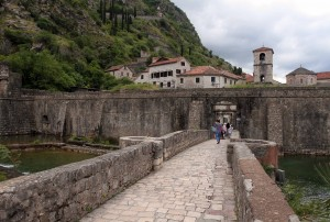 The North Gate in the city walls of the old town of Kotor.