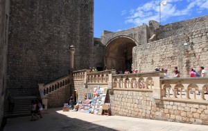 Inside Pile Gate, the west entrance in to the old city of Dubrovnik.
