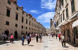 Placa Stradun (the main street) in Dubrovnik.