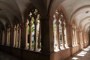 The cloister inside the Dominican Monastery.