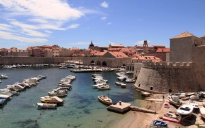 The Old Port and marina of Dubrovnik.