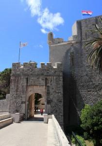 Ploče Gate, on the east side of Dubrovnik.