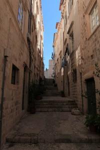 Street inside the old city of Dubrovnik.