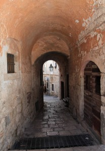 Another street inside the old city of Dubrovnik.