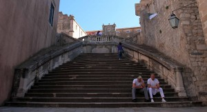 The Spanish Steps leading up to the Church of St. Ignatius.