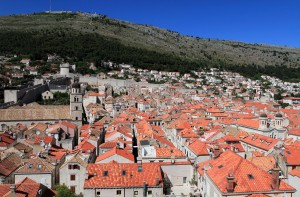 The view from the top floor of the Ethnographic Museum in Dubrovnik.