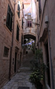 Yet another narrow street in Dubrovnik.