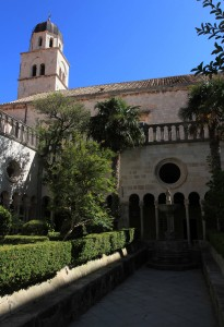 The courtyard inside the Franciscan Monastery in Dubrovnik.