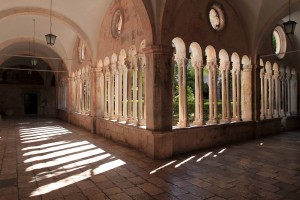 The cloister inside the Franciscan Monastery.