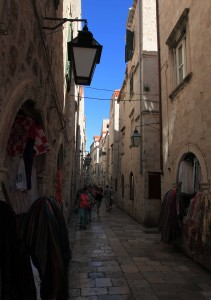 Looking down another street in Dubrovnik.