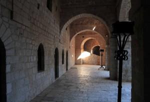 Inside a corridor in Fort Lovrijenac.