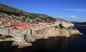 The old city of Dubrovnik, seen from Fort Lovrijenac.