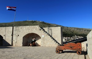 The topmost level of Fort Lovrijenac.