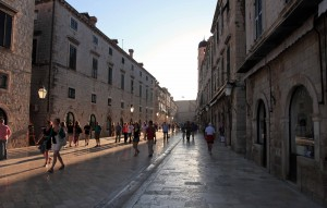 Placa Stradun, seen during the late afternoon.