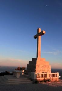 The Cross on Mount Srd, overlooking Dubrovnik.