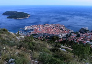Another view of Lokrum Island, the old city of Dubrovnik, and Fort Lovrijenac (seen from the trail on Mount Srd).
