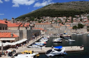 The OId Port and marina sen from the city wall.