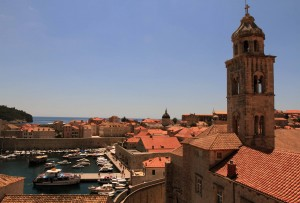 The Old Port and the Bell Tower of the Dominican Monastery.