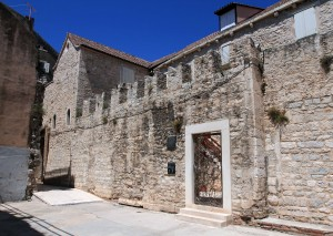 The entrance to the Ethnographic Museum in Split.