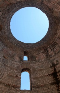Looking up at the Vestibule in Diocletian's Palace.