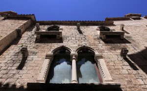 Gothic-style windows on a building (built during the late Medieval Period) within Diocletian's Palace - fancy windows were a sign of wealth back then.