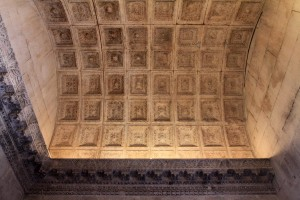 Another view of the Roman-built coffered barrel-vaulted ceiling.