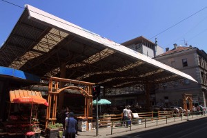 Sarajevo Markale marketplace; the site of the First Markale Massacre, on February 5, 1994 AD.