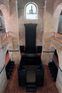 Looking down from the second-level inside the Old Jewish Sunagogue (built in the early 19th-century AD).