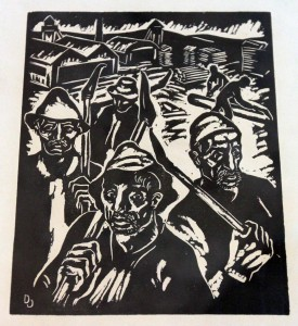 Graphic art by Daniel Ozmo (1912-1942 AD), who died in Jasenovac concentration camp.