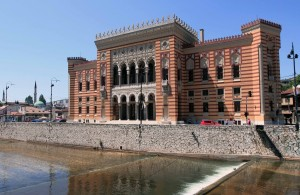 Sarajevo's City Hall.