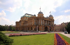 The Croatian National Theater in Zagreb.