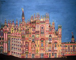 'Milan Cathedral' by Emerik Feješ (found in the Croatian Museum of Naive Art).