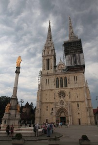 Zagreb Cathedral (its present form dates from 1880 to 1906 AD).