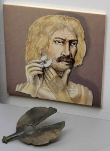 An ancient two-edged razor.