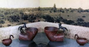 Greek askoi (drinking vessels).