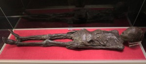 "Mummified body of Nesi-Hensu, the wife of Paher-Hensu (a tailor from Thebes) who was wrapped in the ""Linen Book of Zagreb"" (a modern title), which contains almost 1200 words of the Etruscan language (more than all other preserved texts)."