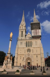 The Zagreb Cathedral in sunlight.