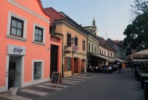 Shops and cafes on Ivana Tkalčića Street.