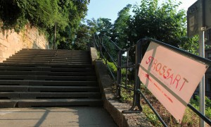 Steps leading up to the Strossmayer Promenade.