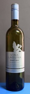 "Bottle of Croatian white wine made from Pinot Sivi (""Pinot Gris"") grapes."
