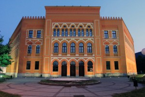 The Gymnasium (secondary school) in Mostar.