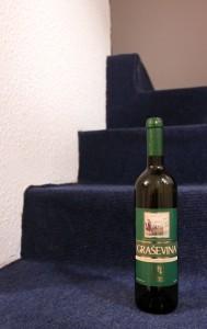 Bottle of Bosnian white wine.