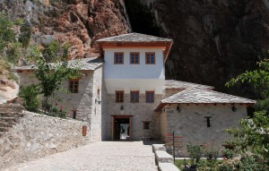Blagaj Tekija - a Dervish monastery that was built around 1520 AD, with elements of Ottoman architecture and Mediterranean style.