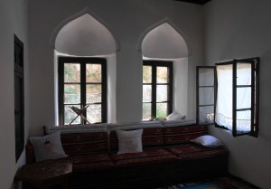 Inside a room in the Blagaj Tekija.